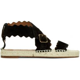 Black Suede Strap Sandals