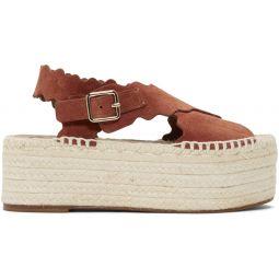 Red Suede Platform Sandals