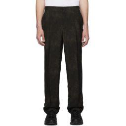 Brown Animal Print Fluid Trousers