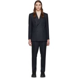 Navy Wool Cashmere Double-Breasted Suit