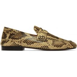 Tan Snake Fezzy Loafers