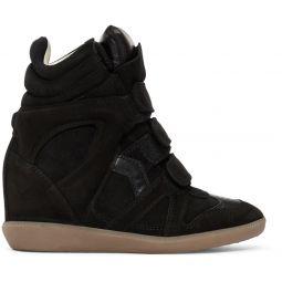 Black Bekett Wedge Sneakers