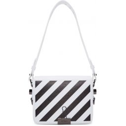 White Diagonal Flap Bag