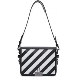 Black Diagonal Flap Bag