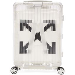 White RIMOWA Edition See Through Carry-On Suitcase