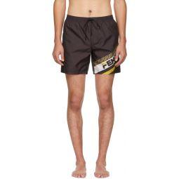 Black Fendi Mania Tech Swim Shorts