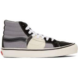 Black & Grey Sk8-Hi Bricolage Sneakers