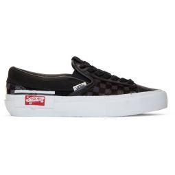 Black Vault Pony Hair Slip-On Cap LX Sneakers