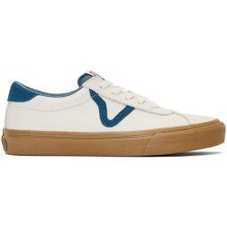 White & Blue Epoch Sport LX Sneakers