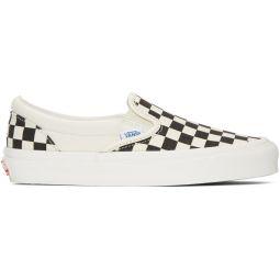 Black & White OG Checkerboard Classic Slip-On Sneakers