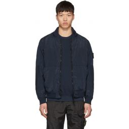 Blue Nylon Metal Watro Short Jacket