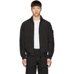 Black Nylon Metal Watro Short Jacket