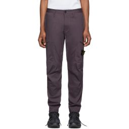 Purple Twill Cargo Pants