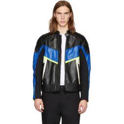 Black & Blue Leather Astars-LDUE Jacket