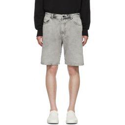 Grey Denim D-Willoh Shorts