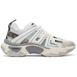 White & Grey S-Kipper Low Trek Sneakers