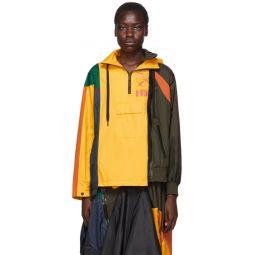 Yellow & Multicolor Sacai Edition NRG Ni-01 Hooded Anorak