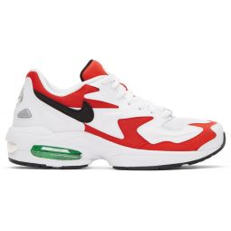 White & Red Air Max 2 Light Sneakers