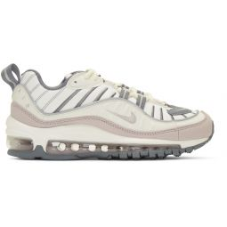 White & Purple Air Max 98 Sneakers