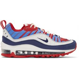White & Blue Air Max 98 Sneakers