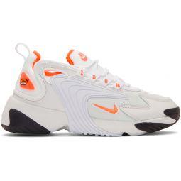 Off-White & Orange Zoom 2K Sneakers