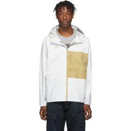White & Yellow ACG Packable Rain Jacket