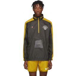 Grey & Yellow Gyakusou Half-Zip Jacket