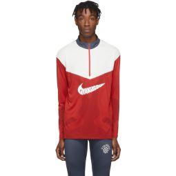 Red & White Gyakusou Half-Zip Sweater