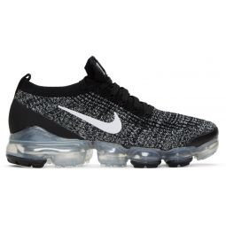 Black & White Air Vapormax Flyknit 3 Sneakers