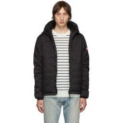 Black Down Lodge Hooded Jacket