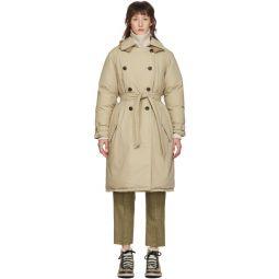 Tan Down Marcelle Coat