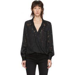 Black Floral Dean Shirt