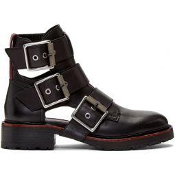 Black Cannon Buckle II Boots