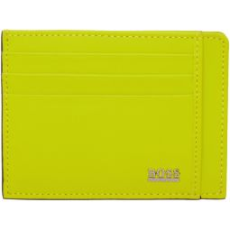 Yellow Rubberized Signature Card Holder