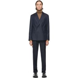 Navy Double Breasted Namil Boit Suit