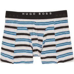 Two-Pack Black & Striped Boxer Briefs
