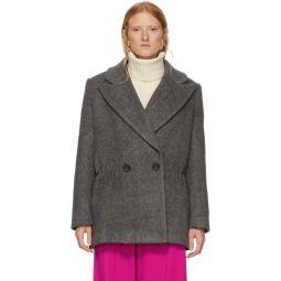 Grey Wool Plush Coat