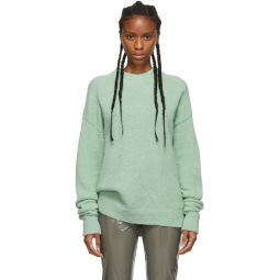 Green Alpaca Airy Pullover Sweater