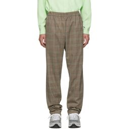 SSENSE Exclusive Brown Check James Pull On Trousers