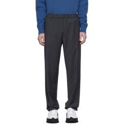 SSENSE Exclusive Grey Pinstripe Jogger Trousers