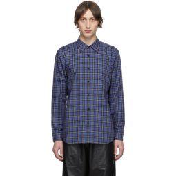 SSENSE Exclusive Blue & Multicolor Check Kingston Shirt