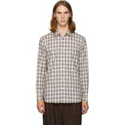 SSENSE Exclusive White & Multicolor Check Kingtson Shirt
