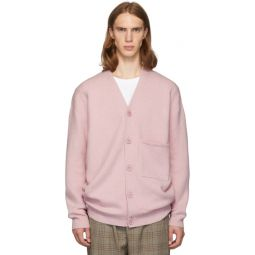 SSENSE Exclusive Pink Cashmere Oversized Cardigan
