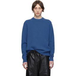 SSENSE Exclusive Blue Stretch Cashmere Sweater