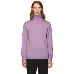 SSENSE Exclusive Purple Merino Wool Slim-Fit Turtleneck