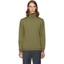 SSENSE Exclusive Khaki Merino Wool Slim-Fit Turtleneck