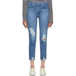Blue 724 High-Rise Straight Crop Jeans