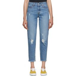 Blue Wedgie Icon Fit Frayed Jeans