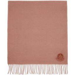 Pink Wool Logo Scarf