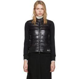 Black Down Knit Jacket